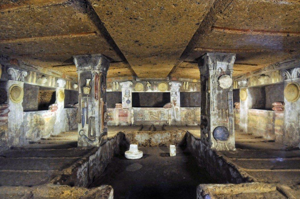 grabowce etruskie w tarquini i cerveteri