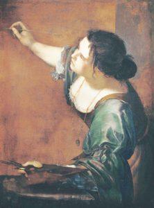 obraz Artemizja Gentileschi - Alegoria malarstwa