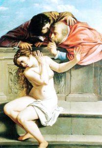 Obraz Artemizja Gentileschi - Zuzanna i starcy