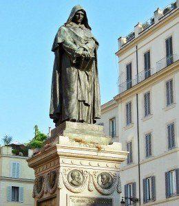 Plac Campo de' Fiori - pomnik Giordana Bruna